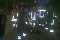Beim Nacht-Orientierungsmarsch in Oesingen mit zwei Gruppen dabei