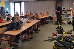 Brandschutzerzieher besuchen Westerbecker Grundschule